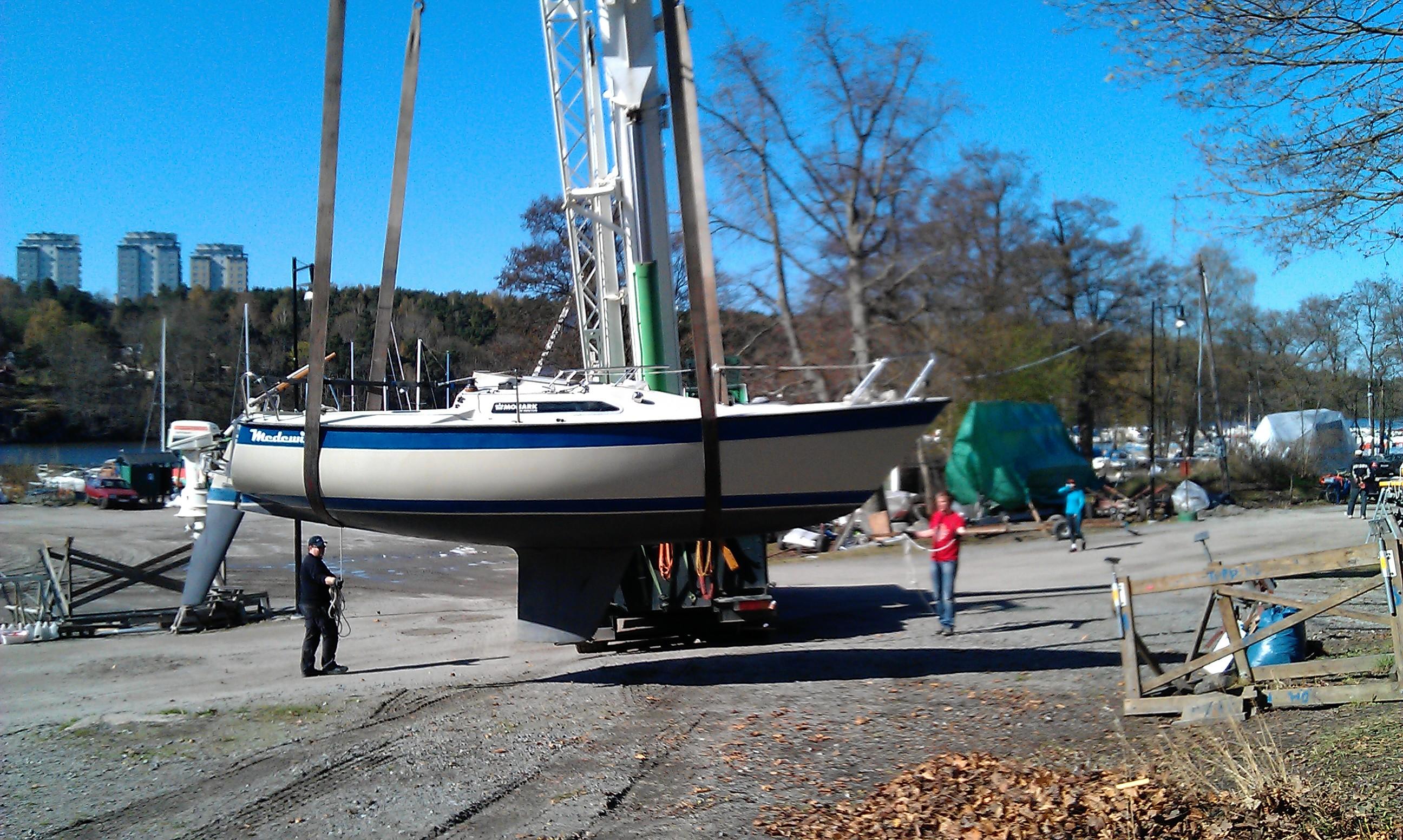 sjösätta segelbåt själv